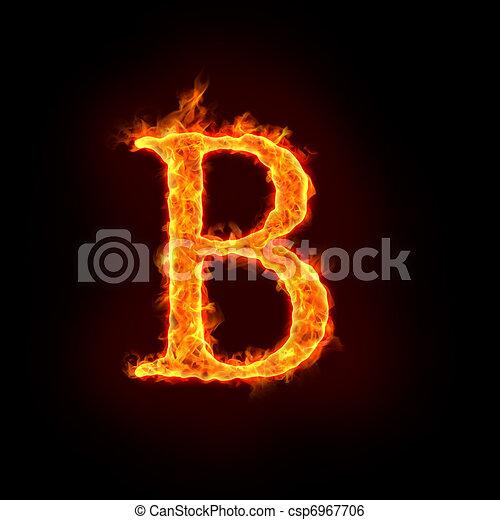 fire alphabets, B - csp6967706