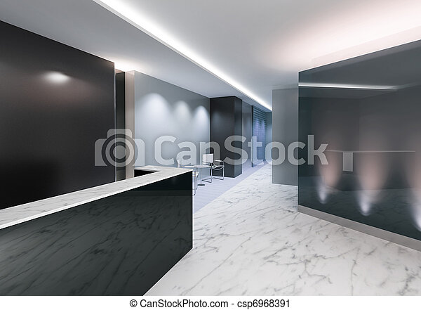 entrada, escritório,  Área - csp6968391