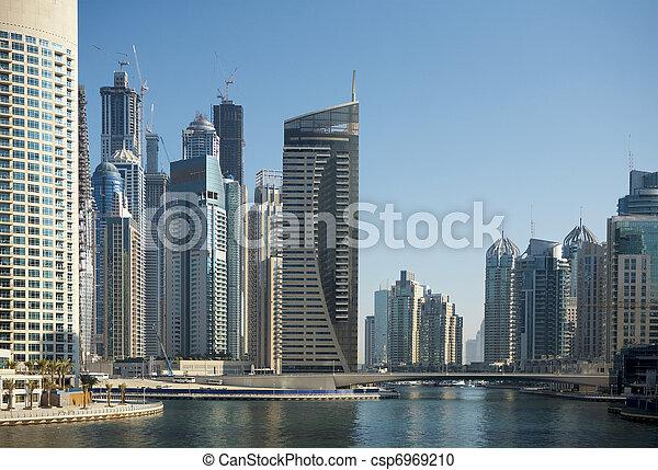 Town scape at summer. Dubai Marina. - csp6969210