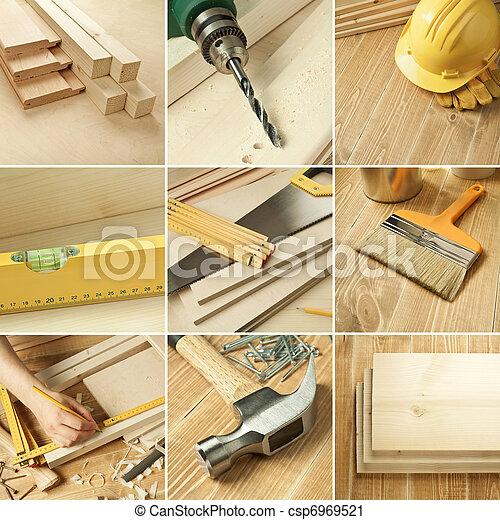 collage, herramientas - csp6969521