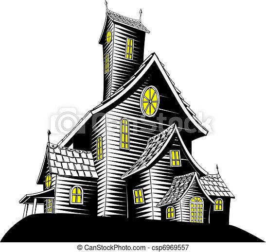scary haunted house illustration royalty free eps clip