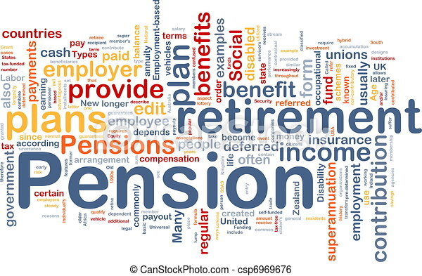 Pension background concept - csp6969676