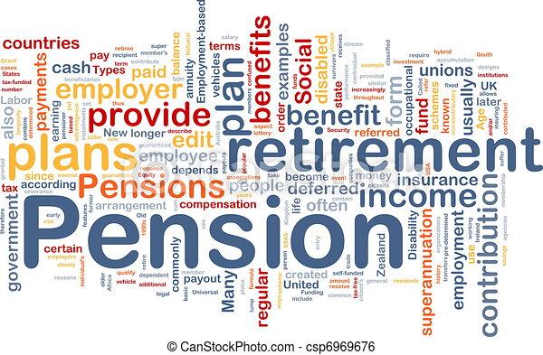 Pension background concept - csp6969676
