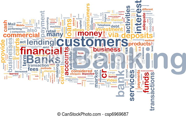 Banking background concept - csp6969687