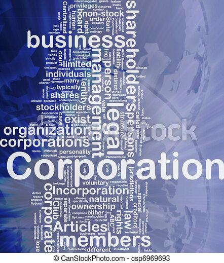 Corporation background concept - csp6969693