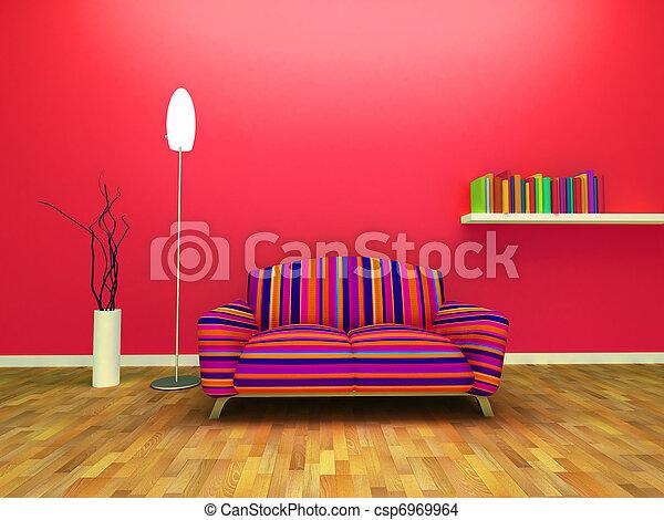 Contemporary interior design - csp6969964