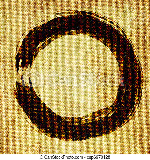hand painted zen circle - csp6970128