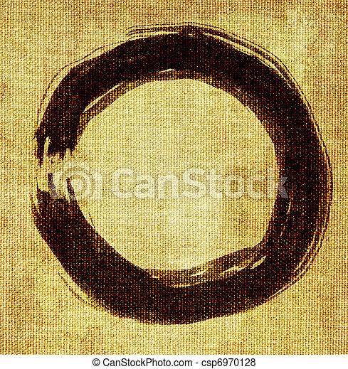 hand painted zen circle - csp6970128