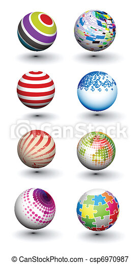 Set of colorful spheres design - csp6970987