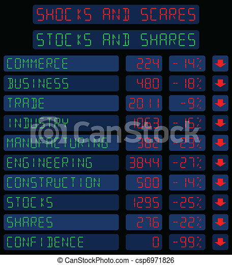 Stocks and Shares  - csp6971826