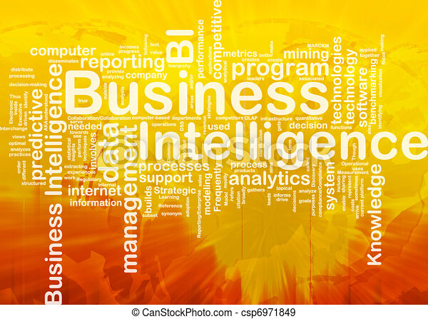 Business intelligence background concept - csp6971849
