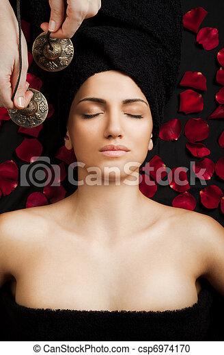 Female sound therapy - csp6974170