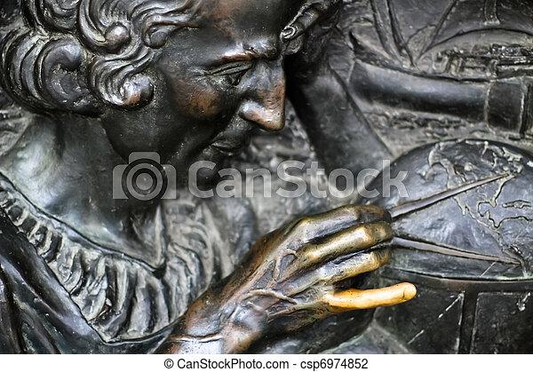 Lucky finger of Columbus - csp6974852