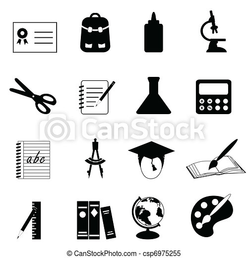 Education and school icons - csp6975255