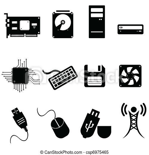 Computer and technology icons - csp6975465