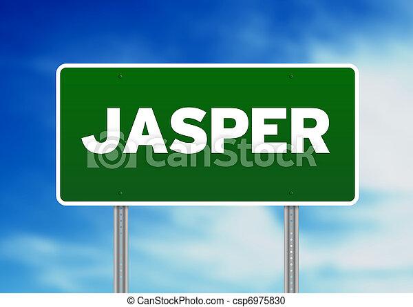 Green Road Sign - Jasper - csp6975830