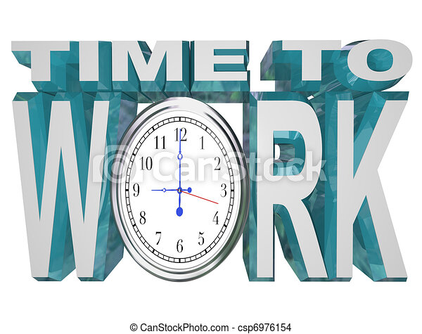 Time to Work Clock Countdown to Working Deadline - csp6976154