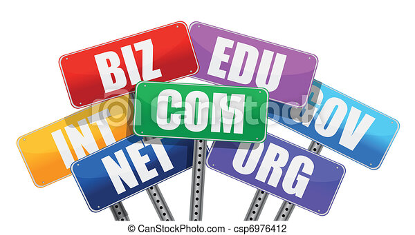 Domain names signs internet concept - csp6976412