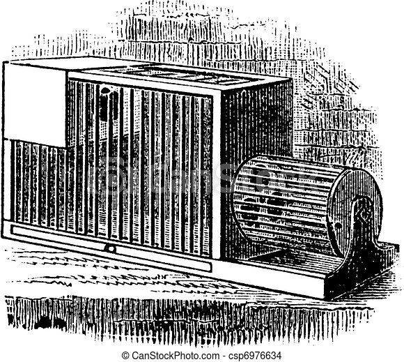 Rat cage vintage engraving - csp6976634