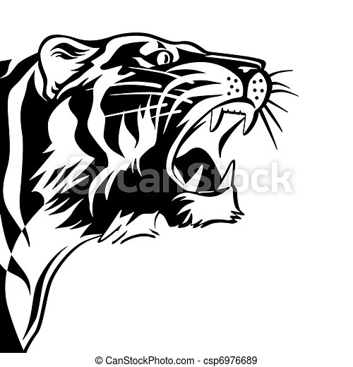 Vettori eps di tigri segno nero biancocsp6976689 for Disegni delle tigri