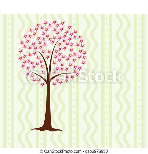 tree in blossom  - csp6976930