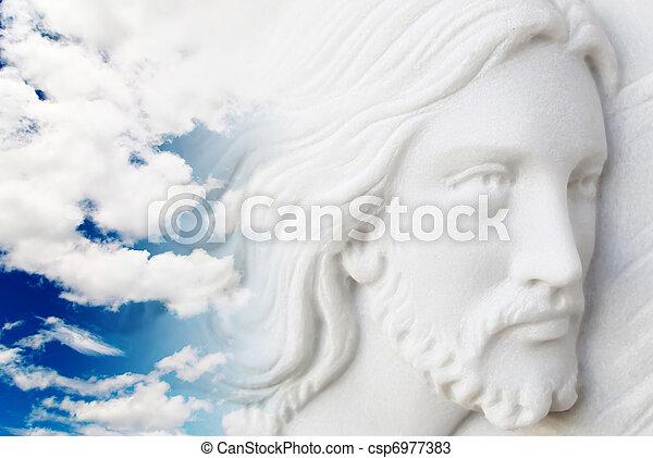 jesus christ in the sky - csp6977383