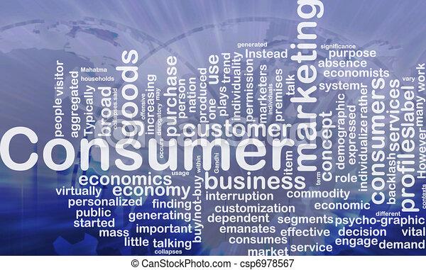 Consumer background concept - csp6978567