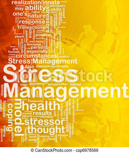 Stress management background concept - csp6978569