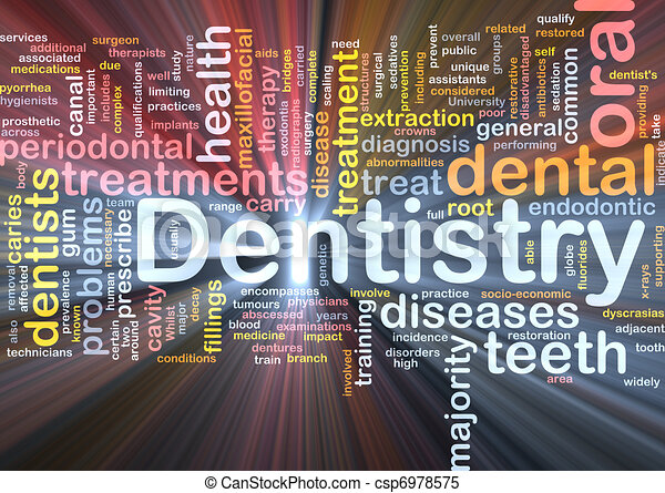 Dentistry background concept glowing - csp6978575