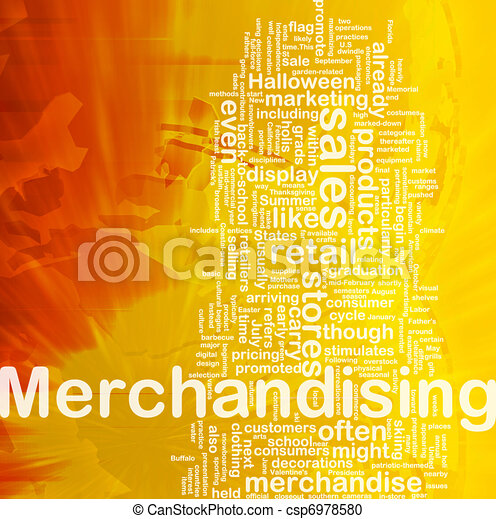 Merchandising background concept - csp6978580