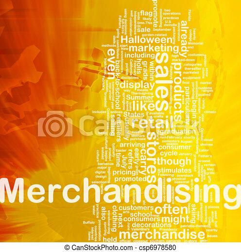 Merchandising background concept - csp6978580