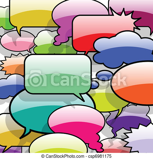 Speech And Thought Bubbles - csp6981175