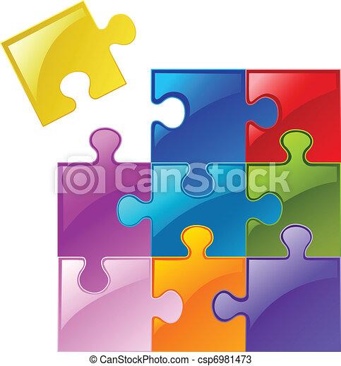 Puzzle pieces - csp6981473