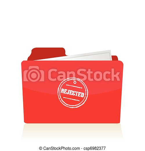 file folder with rejected documents - csp6982377