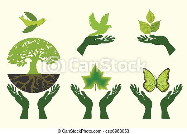 Nature Icons. Vector set - csp6983053