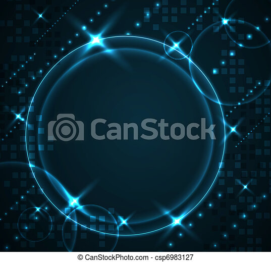Abstract modern glowing background - csp6983127