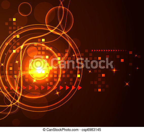 Abstract modern glowing background - csp6983145