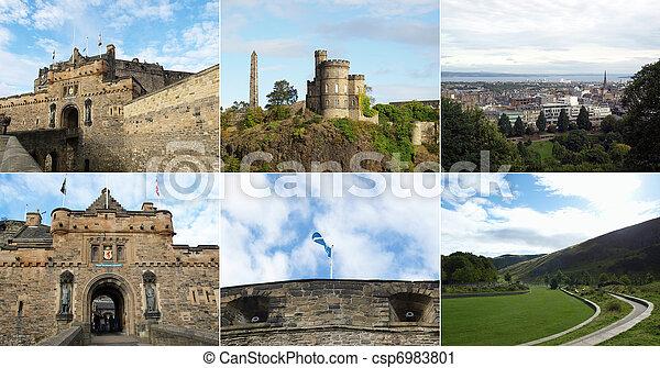 Edinburgh landmarks - csp6983801