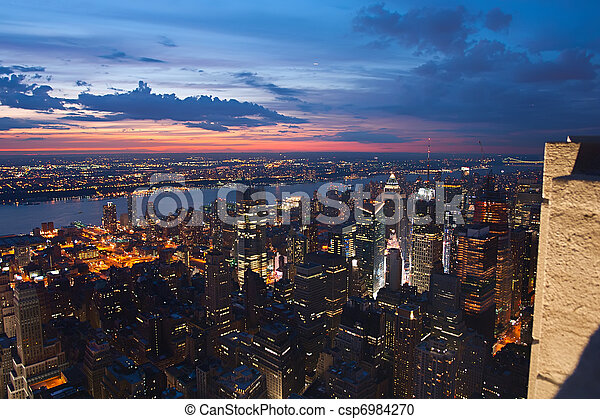 View on New York and New Jersey - csp6984270