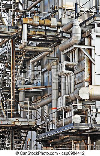 aço, cano,  Industrial, predios - csp6984412