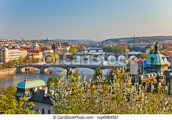 View on Prague Bridges - csp6984591