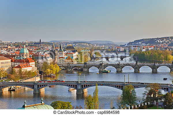 View on Prague Bridges - csp6984598