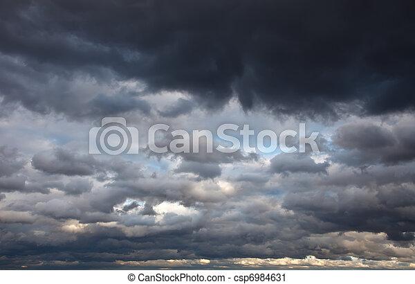 cielo, tempestuoso - csp6984631