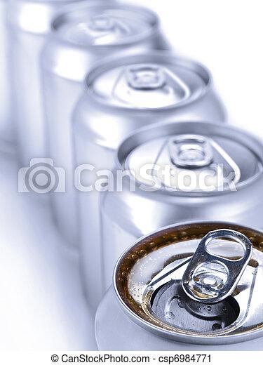 Silver soda cans - csp6984771
