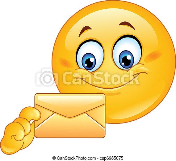 Emoticon with envelope - csp6985075
