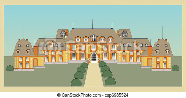 EPS Vector of palace, castle, vector csp6985524 - Search ...