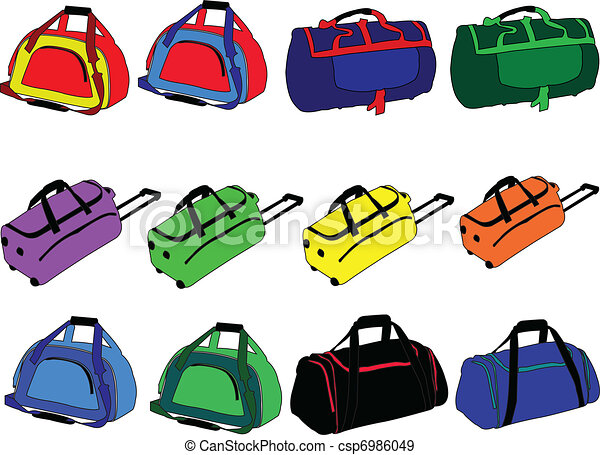 traveling-bag collection - vector - csp6986049