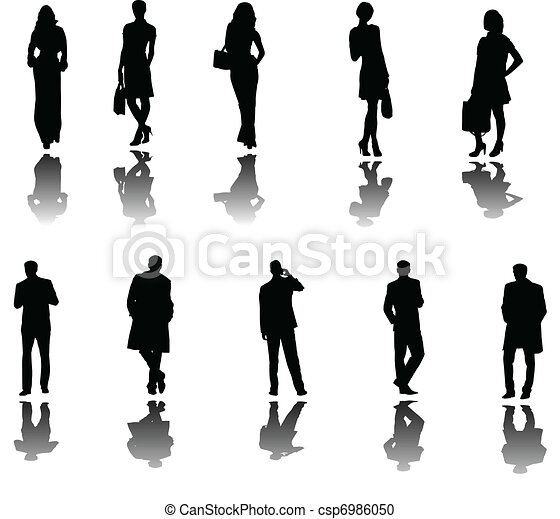 business people with shadow - csp6986050