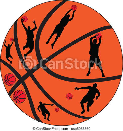 basketball players - vector - csp6986860