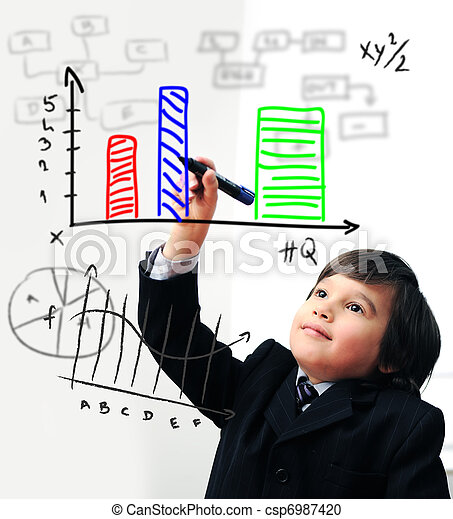 図, スクリーン, デジタル, 図画, 子供 - csp6987420